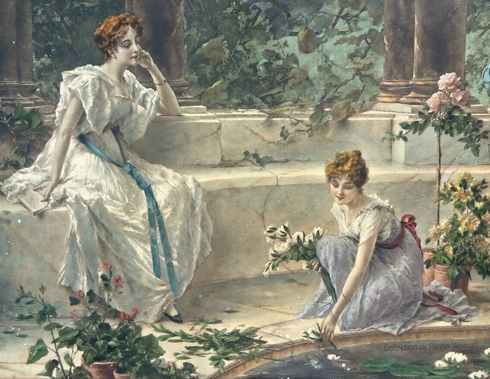 Conrad-Kiesel-Paintings-Lithograph-Print-Frame-Rival-Lilies-_57.jpg