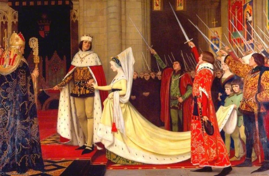 Ernest-Board-King-Edward-IV-and-His-Queen-Elizabeth-Woodville-at-Reading-Abbey-1464.jpg