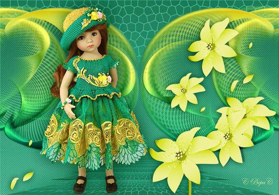 куколка желто зеленый цвет